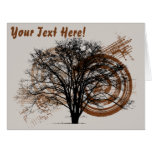 Cool Grunge Eco-Pro-Environment Tree Silhouette Large Greeting Card