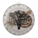 Cool Grunge Eco-Pro-Environment Tree Silhouette Dartboards