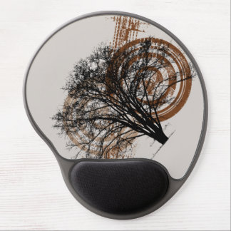 Cool Grunge Eco-Pro-Environment Tree Silhouette Gel Mousepads
