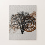 Cool Grunge Eco-Pro-Environment Tree Silhouette Puzzles