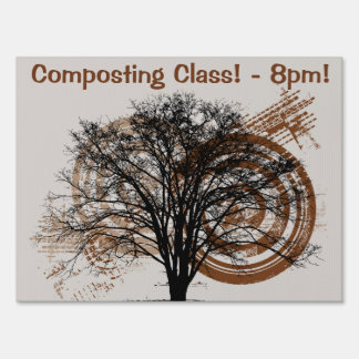 Cool Grunge Eco-Pro-Environment Tree Silhouette Signs