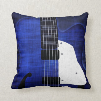 Cool Grunge Electric Guitar Pillow