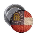 Cool Grunge Georgia Flag Pinback Buttons