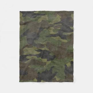 Cool Grunge Green Camo Custom Fleece Blankets