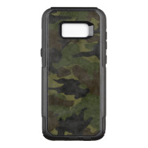 Cool Grunge Green Camo Military Camouflage Pattern OtterBox Commuter Samsung Galaxy S8  Case