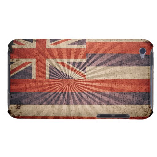 Cool Grunge Hawaii Flag Barely There iPod Case