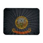Cool Grunge Idaho Flag Rectangle Magnet