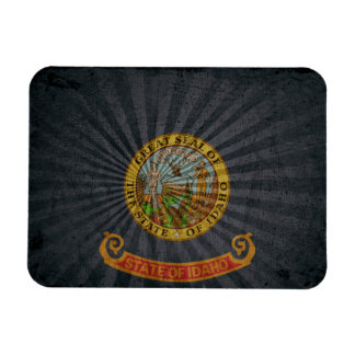 Cool Grunge Idaho Flag Rectangle Magnet