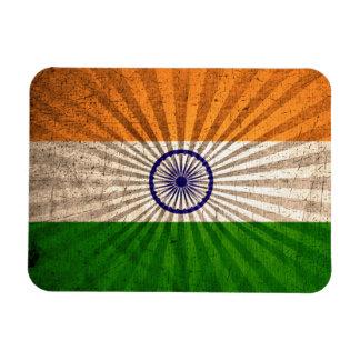 Cool Grunge Indian Flag Rectangular Photo Magnet