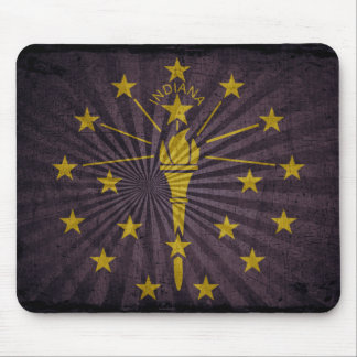 Cool Grunge Indiana Flag Mouse Pad