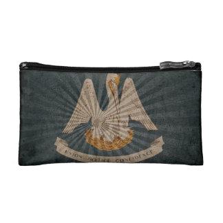 Cool Grunge Louisiana Flag Cosmetics Bags
