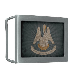 Cool Grunge Louisiana Flag Belt Buckle