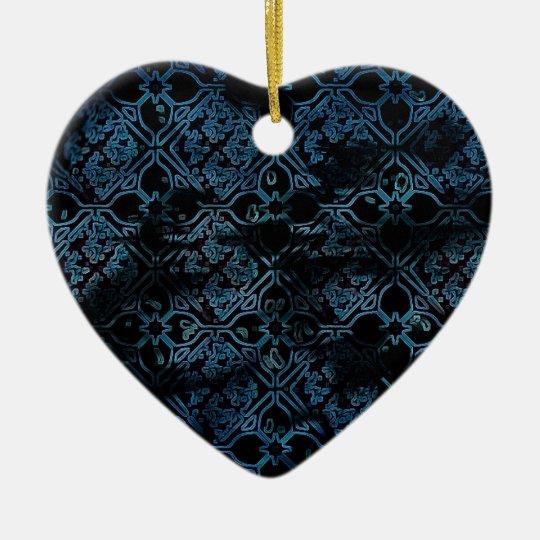 Cool Grunge Medieval Print Ceramic Ornament