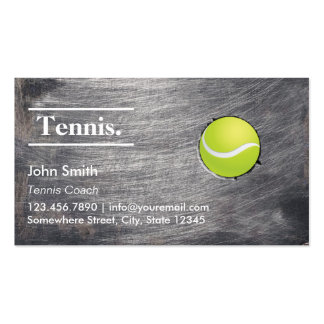 Cool Grunge Metal Texture Tennis Double-Sided Standard Business Cards (Pack Of 100)