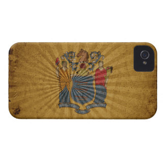 Cool Grunge New Jersey Flag iPhone 4 Case