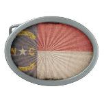Cool Grunge North Carolina Flag Belt Buckle