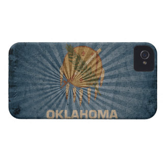 Cool Grunge Oklahoma Flag iPhone 4 Cases