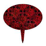 Cool Grunge Red Medieval Print Cake Pick