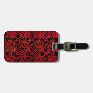 Cool Grunge Red Medieval Print Tags For Luggage