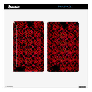 Cool Grunge Red Medieval Print Skins For Kindle Fire