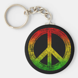 Cool Grunge Reggae Rasta Peace Symbol Keychains