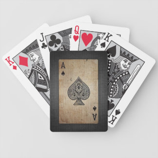 Cool Grunge Retro Artistic Poker Ace Of Spades Bicycle Playing Cards