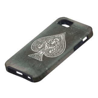 Cool Grunge Retro Artistic Poker Ace Of Spades iPhone 5 Cover