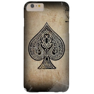 Cool Grunge Retro Artistic Poker Ace Of Spades Barely There iPhone 6 Plus Case