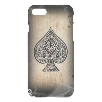 Cool Grunge Retro Artistic Poker Ace Of Spades iPhone 7 Case