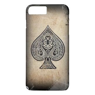 Cool Grunge Retro Artistic Poker Ace Of Spades iPhone 7 Plus Case