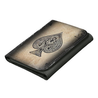 Cool Grunge Retro Poker Ace Of Spades Wallets