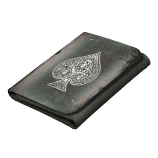 Cool Grunge Retro Poker Ace Of Spades Wallet