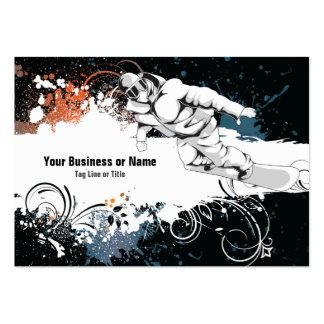Cool Grunge Snowboard Business Card