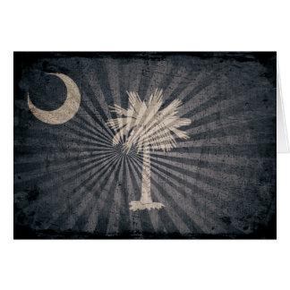 Cool Grunge South Carolina Flag Cards