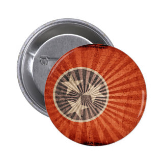 Cool Grunge Tennessee Flag Pinback Button