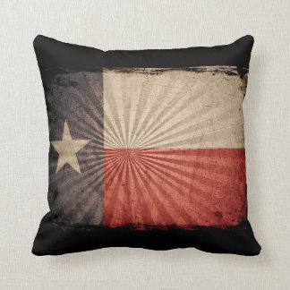 Cool Grunge Texas Flag Pillow
