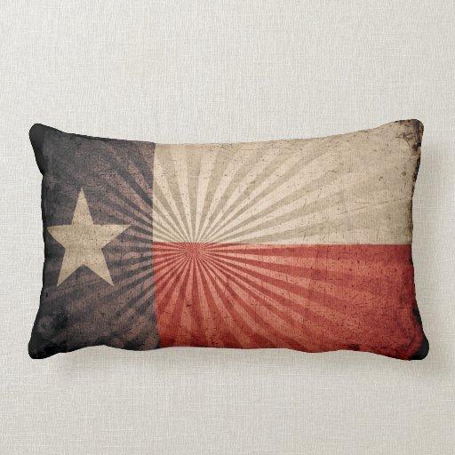 Cool Grunge Texas Flag Throw Pillow