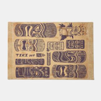 Cool Grunge Vintage Tiki Set Doormat