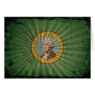 Cool Grunge Washington Flag Card