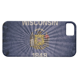 Cool Grunge Wisconsin Flag iPhone SE/5/5s Case