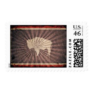 Cool Grunge Wyoming Flag Postage Stamp