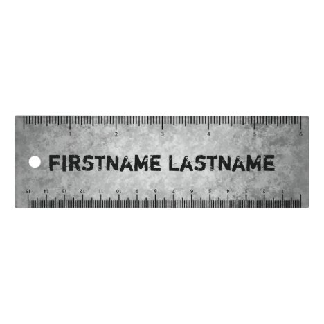 Cool grungy name ruler