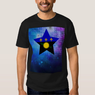 Cool Guadeloupe Flag Star Tshirts