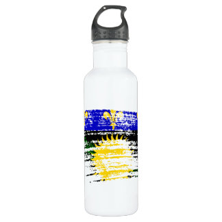 Cool  Guadeloupean flag design Stainless Steel Water Bottle