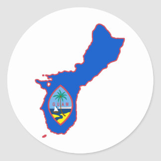 Cool Guam Classic Round Sticker