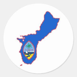 Cool Guam Classic Round Sticker