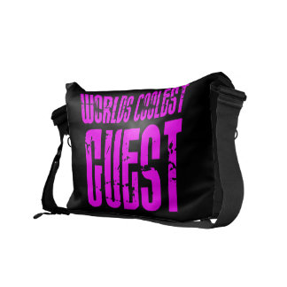Cool Guests + Pink : Worlds Coolest Guest Messenger Bag