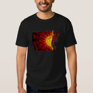 cool guitar musician silhouette  print background T-Shirt