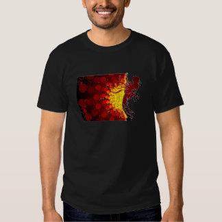 cool guitar musician silhouette  print background tee shirt