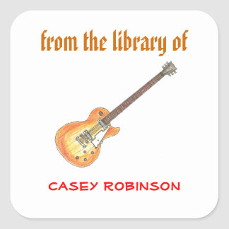 Cool guitar personalized bookplates